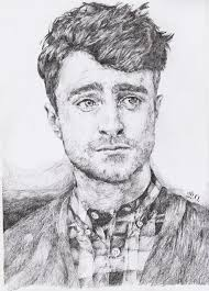 art daniel radcliffe draw harry potter unrealpicture image