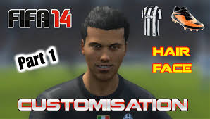 fifa 14 all hairstyles fifa 14 all customisation boots hair face and traits part 1