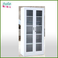 Shelves With Glass Doors by Cabinet Metal Bookcase With Glass Door Cabinet Metal Bookcase