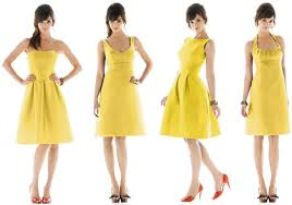 pale yellow mother of the bride dresses wedding short dresses