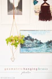 Geometric Hanging Planter by Diy Geometric Hanging Brass Planter Vintage Revivals