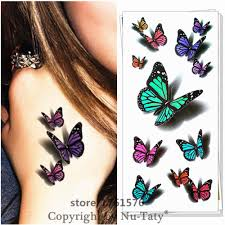 25 style temporary 3d amazing butterfly designs