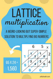 lattice multiplication a weird looking but super simple way to