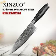high carbon kitchen knives xinzuo 8 inches pro chef knife china 67 layers high carbon