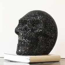 large ornament studded black skull 19387 furniture in