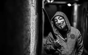 anonymous mask hd background anonymous mask hacker machete jacket wallpaper