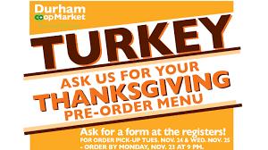 turkey order thanksgiving turkeys u2013 durham co op market