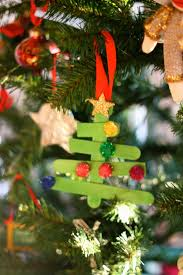 popsicle stick christmas tree ornament i will make these with toby