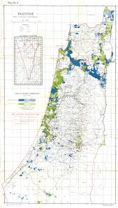 Map Of Palestine Jewish Owned Land In Mandatory Palestine At The End Of 1944