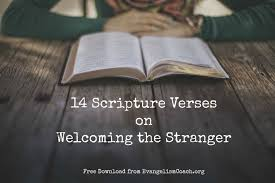 biblical thanksgiving message 14 bible verses on welcoming the stranger