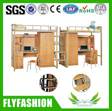 School Dormitory Specific Used Metal Bunk Beds With Wardrobe And - Used metal bunk beds