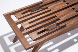 a handcrafted wood bench with no hardware bench hardware and woods