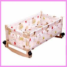 Swinging Crib Bedding Wood Baby Cradle Crib Bed Newborn Sleeping Basket Baby Crib
