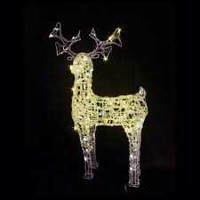 Outdoor Christmas Decorations Reindeer And Sleigh Reindeer With Sleigh Led Christmas Lights Reindeer With Sleigh Led