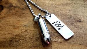 necklace urns for ashes personalized cremation silver bullet urn pendant stainless