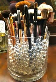 best 25 large glass jars ideas only on pinterest glass my sis would love this organization for make up brushes large vase filled with clear glass marbles to keep the brushes standing good idea