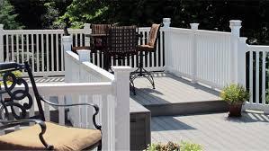 vinyl porch railing railings for porches frederick fence