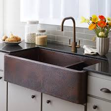 sinks best faucet for farmhouse sink collection hammered copper