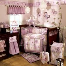 Purple Nursery Bedding Sets Purple And Green Nursery Bedding Butterflies And Flowers