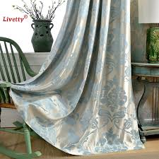 Damask Kitchen Curtains Fabric European Blackout Curtains For Living Room Jacquard Damask