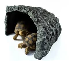 Tortoise Home Decor Amazon Com Reptile Rock Hide Cave Motina Pet Tortoise Escape