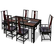 rosewood ming style dining table with 6 chairs