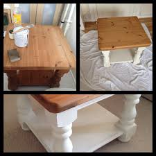 ducal old pine table upcycled into shabby cottage coffee table