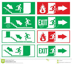 emergency exit sign stock photos image 31066863