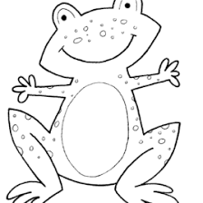 frog head coloring kids drawing coloring pages marisa