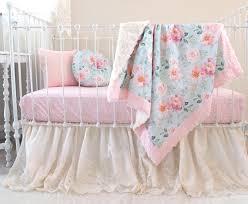 Bedding For A Crib Bedroom Vintage Floral Crib Sheets Bedding Blooms