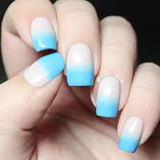 blue gradient nail art tina tech