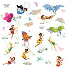 disney fairies wall decals w glitter wings only 9 97 super