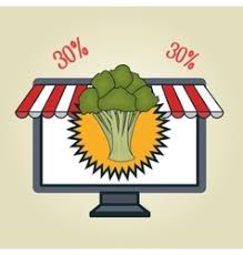 buy fruit online smartphone buy online fruit royalty free vector image