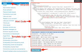 socialengine how to edit email templates