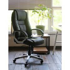 Home Depot Decorators Collection Home Decorators Collection Black Faux Leather Executive Office