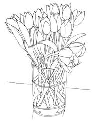 Vase Drawing Gallery For U003e How To Draw Tulips In A Vase Children U0027s