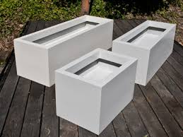 Concrete Rectangular Planter by Custom Fiberglass Planters Custom Planter Commercial Custom Planters