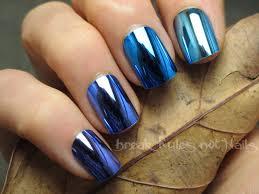 blue chrome ombre nails break rules not nails