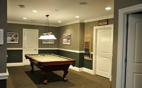 decorations elegant living space in basement with cozy brown