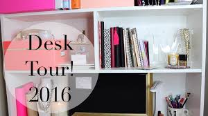 Desk Organization Accessories Desk Tour 2016 Home Office Organization Diy Accessories