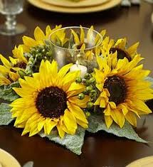 Sunflower Centerpieces Centerpieces Sunflowers And Solid Aster In Mason Jars Wrapped