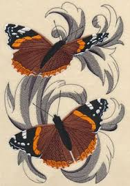 monarch butterflies in flight embroidery butterfly