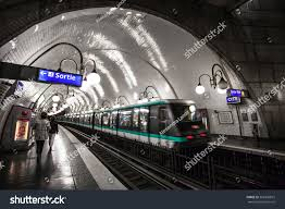 Paris Subway Paris France Paris Metro Interior On Stock Photo 566350819