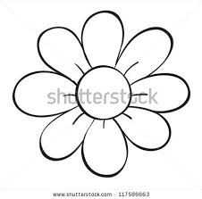 simple flower outline stock images royalty free images u0026 vectors