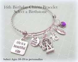 birthday charm bracelet girl birthday gift 16th birthday charm bracelet