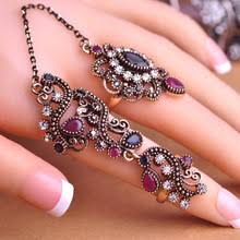 finger ring designs for new arrival adjustable turkish two finger rings for party women