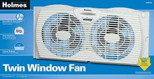 Amazoncom Holmes Dual Blade Twin Window Fan White Home  Kitchen - Bathroom fan window 2