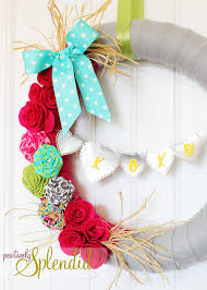 valentines wreaths wreath positively splendid crafts sewing recipes and