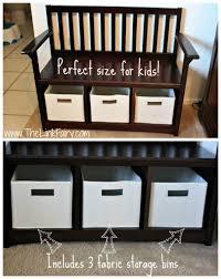 bench storage bench with bins badger basket storage bench top