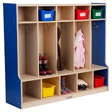 Locker Bookshelf 5 Section Coat Locker With Bench Target